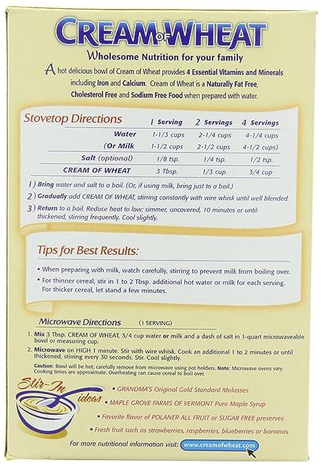 Amazon Cream Of Wheat Original Stove Top 10 Minutes 28 Ounce