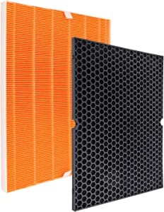 Flintar 116131 Filter I True HEPA Filter Replacement, Compatible with Winix 116131 Filter I for C555 Air Purifier, Premium H13 True HEPA and Washable Advanced Carbon Filter