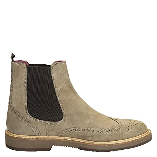 Leonardo Shoes Hombre U581pecrosta Beige Gamuza Botines: Amazon.es: Zapatos y complementos