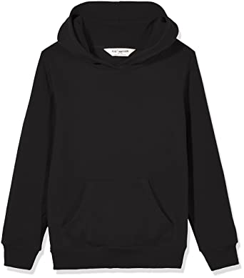 c0bb86523b9 Kid Nation Kids  French Terry Oversized Solid Hoodie Sweatshirt for Boys Or  Girls XS Black