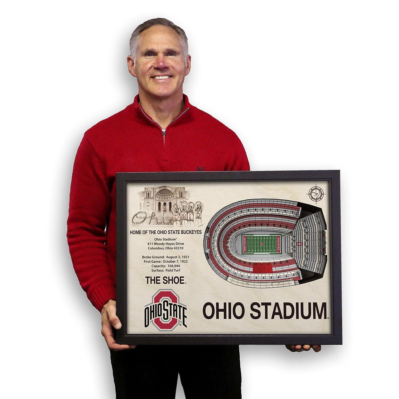 amazon com ncaa ohio state buckeyes ohio stadium wall art amazon com ncaa ohio state buckeyes ohio stadium wall art sports outdoors