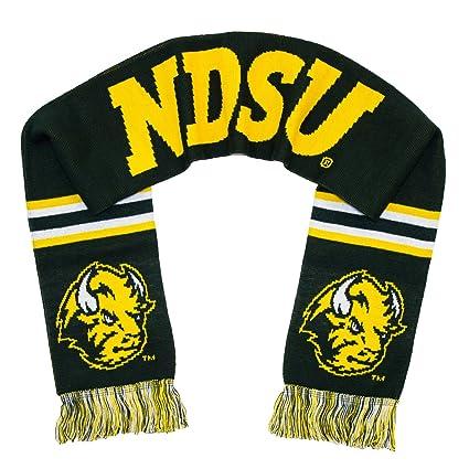 Fan Shop Scarves NDSU Bison Scarf North Dakota State Alternate Dark Green Knitted