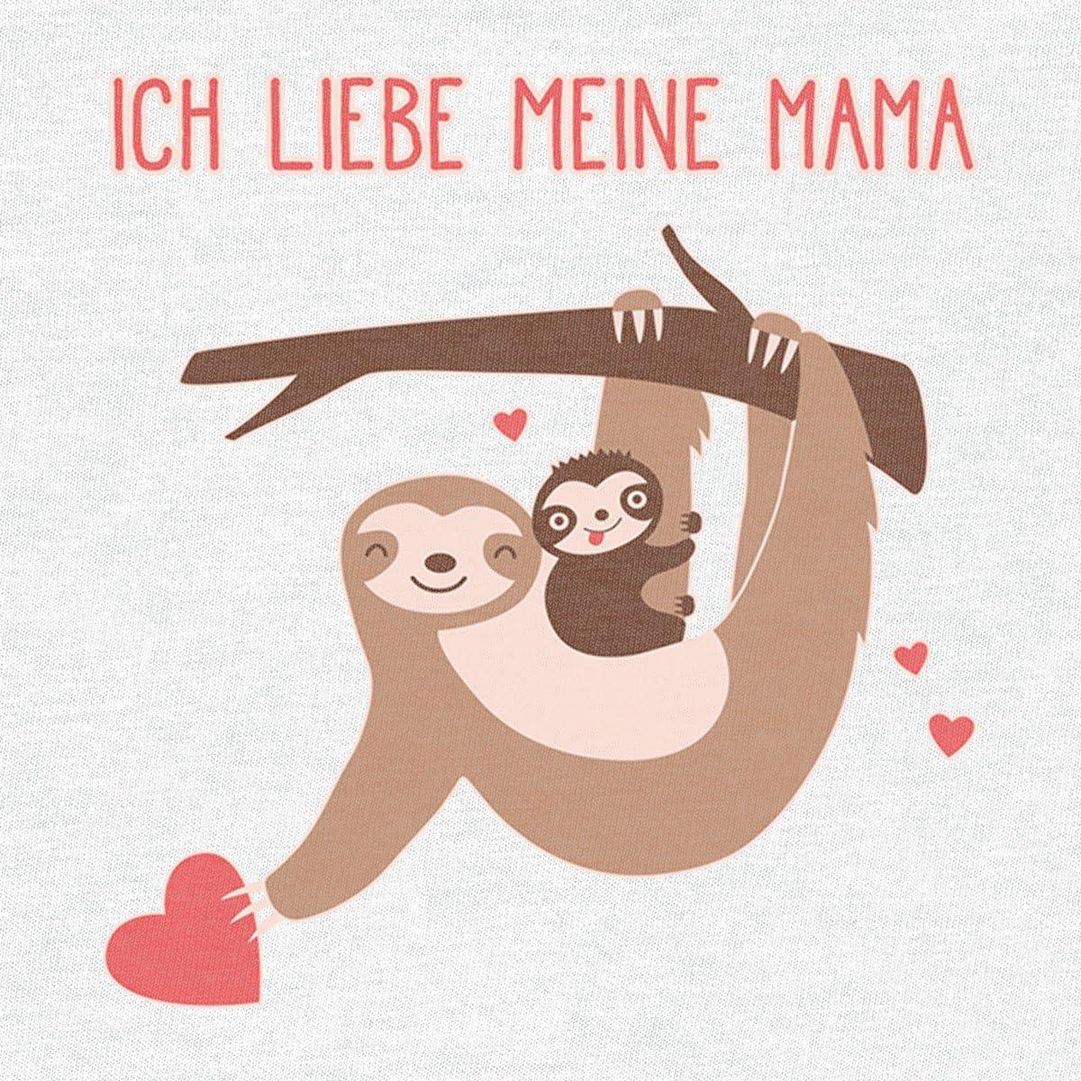Shirtgeil Baby und Mami Faultier an Einem Stamm Ich Liebe Meine Mama Baby Langarm Body