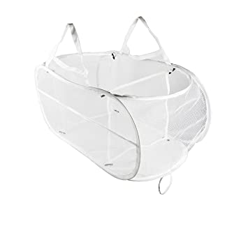 e6252bd46fcc Knocbel Collapsible Mesh Laundry Hampers, 3 Compartment Pop-up Sorter  Baskets with Durable Portable Handles