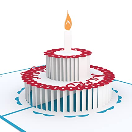 Lovepop Birthday Cake Pop Up Card 3D Greeting