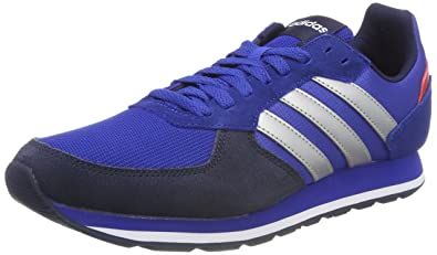adidas 8k, Chaussures de Gymnastique Homme, Multicolore (Collegiate Royal/Matte Silver/Scarlet), 46 2/3 EU