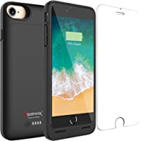 iPhone 7/8 Battery Case, Alpatronix BX180 4.7-inch 3200mAh Slim External Rechargeable Extended Protective Portable Charging Case & Charger Cover for iPhone 7 & iPhone 8 [Apple Certified Chip] - Black