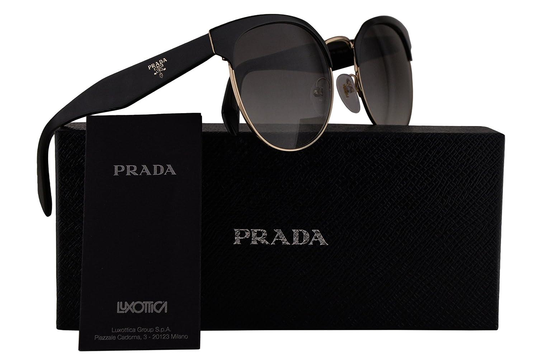 791c2cb30c Prada PR61TS Sunglasses Black Pale Gold w Grey Gradient 54mm Lens 1AB0A7  SPR61T PR 61TS SPR 61T  Amazon.co.uk  Clothing