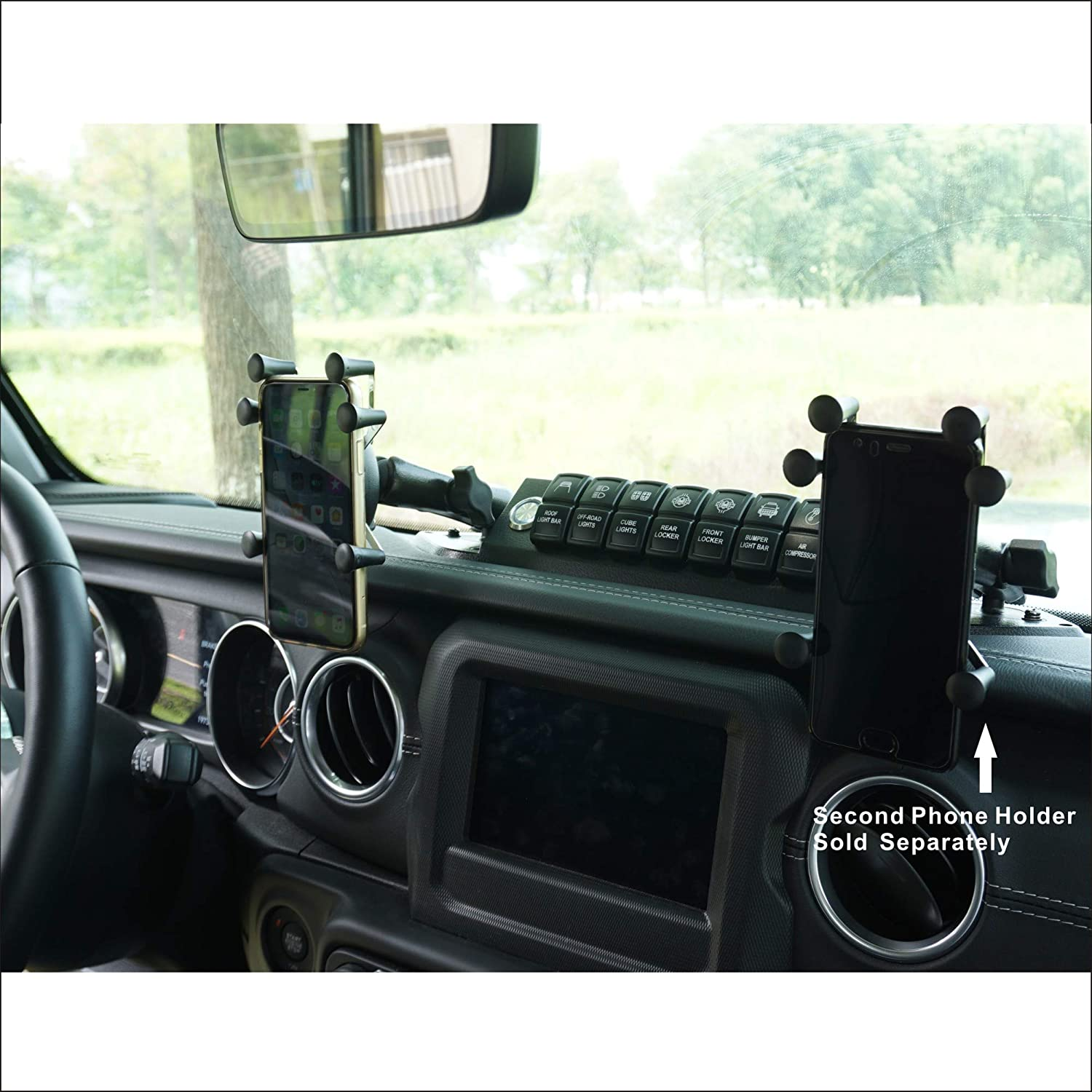 Voswitch JL200 8 Gang Switch Panel Power Control System for Jeep Wrangler JL JLU 2018 to Present and Gladiator 2020