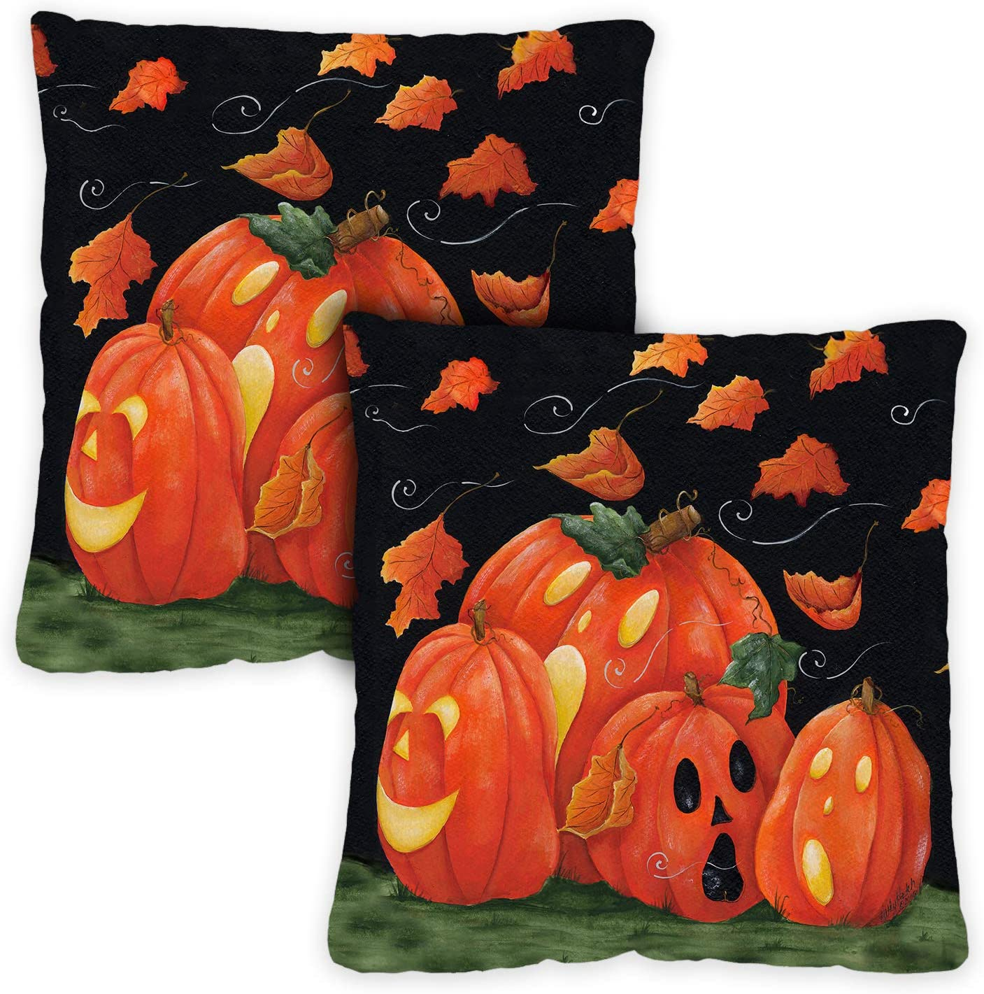 Toland Home Garden 761294 Scary Night 18 x 18 Inch Indoor/Outdoor, Pillow Case (2-Pack)