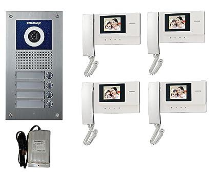 Amazon.com : Commax 4-Apartments Video Intercom Set with 3.5\
