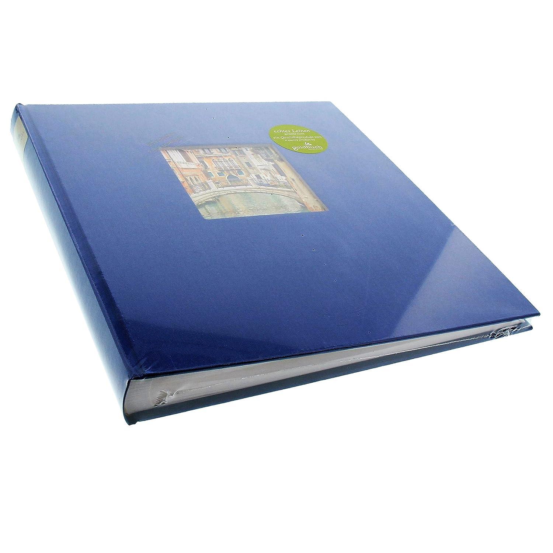 Lin 27895 30 X 31 Cm Goldbuch Album Photo avec D/écoupe 60 Pages Blanches avec Intercalaires Glassine Bleu Bella Vista