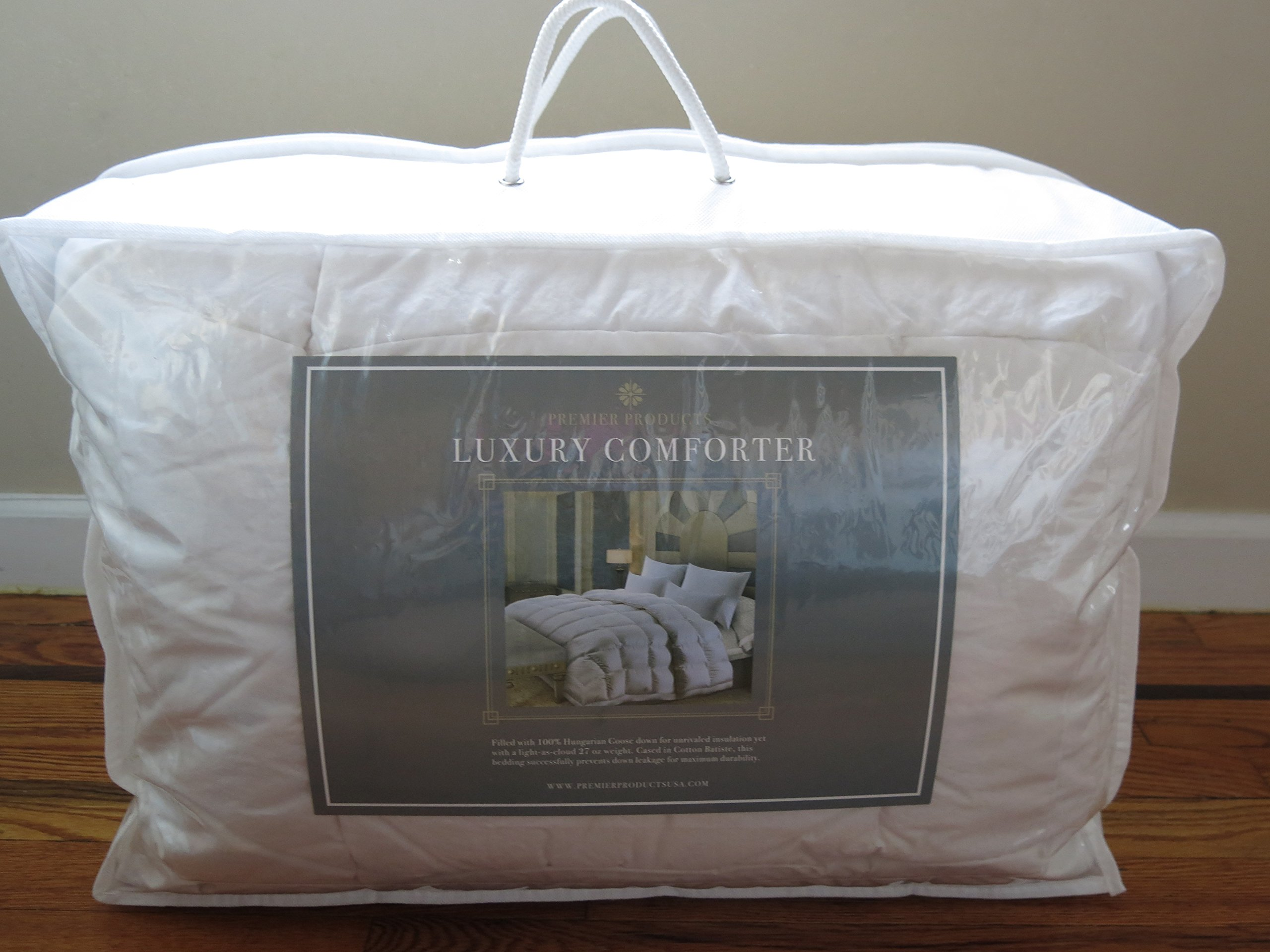 Luxurious Hungarian Goose Down Comforter 700+ FIll Power Duvet. LIGHT.WARM.ALLERGY FREE (Twin)