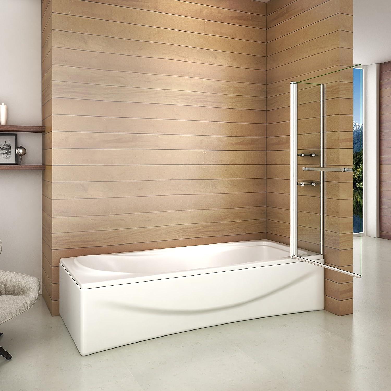 Aica Italy - Mampara de bañera con dos estantes, con rotación de ...