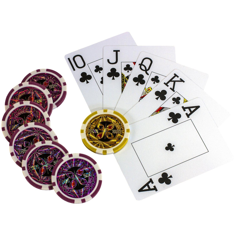 Jetons 5x Würfel Maxstore 500 hochwertige 12 Gramm METALLKERN Laserchips 2x Pokerdecks Koffer Ultimate Black Edition Pokerset Poker 1x Dealer Button Set Alu Pokerkoffer Pokerchips 100/% PLASTIKKARTEN 5x Würfel