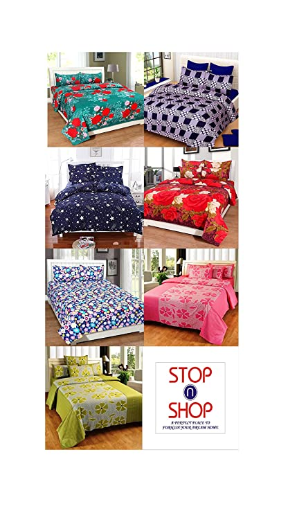 Stop N Shop Super Home Combo 7 Bedsheets With 14 Pillow Covers
