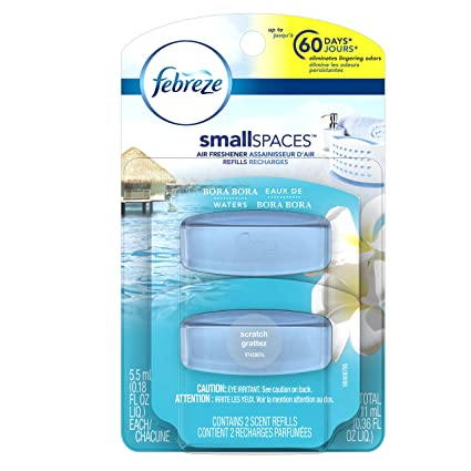Febreze Small Spaces Bora-Bora Waters Refills-Air Freshener, 11ml, 2 ...