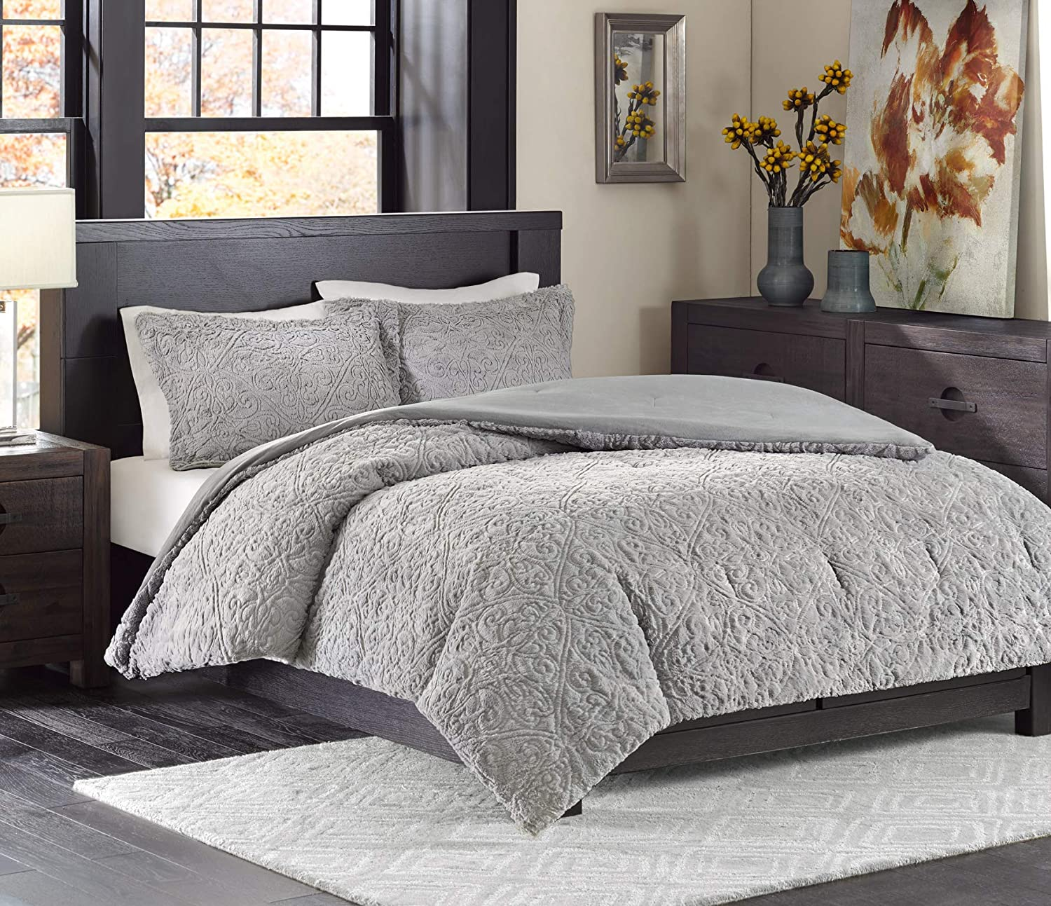 Amazon Com Madison Park Bismarck Full Queen Size Bed Comforter