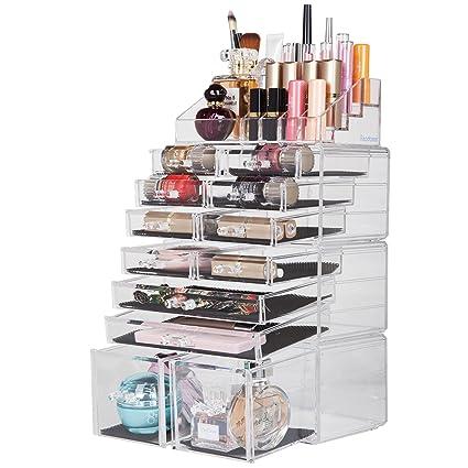 3a79cd27a Readaeer Organizador de Maquillaje con 12 Niveles Ajustables, Caja de  Almacenamiento Multi-funcional (