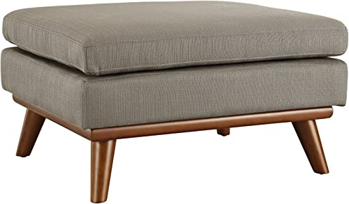 Modway Engage Mid-Century Modern Upholstered Fabric Ottoman