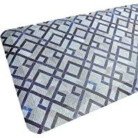 Anti Fatigue Comfort Floor Mat By Sky Mats - Commercial Grade Quality Perfect for Standup Desks, Kitchens, and Garages - Relieves Foot, Knee, and Back Pain, 20x32x3/4-Inch, Blue Diamonds Pattern