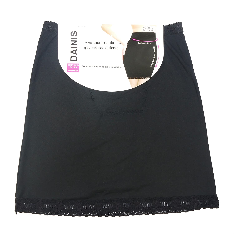 Vestido con falda, encaje silicona y ropa interior invisible para mujer 2810.: Amazon.es: Ropa y accesorios