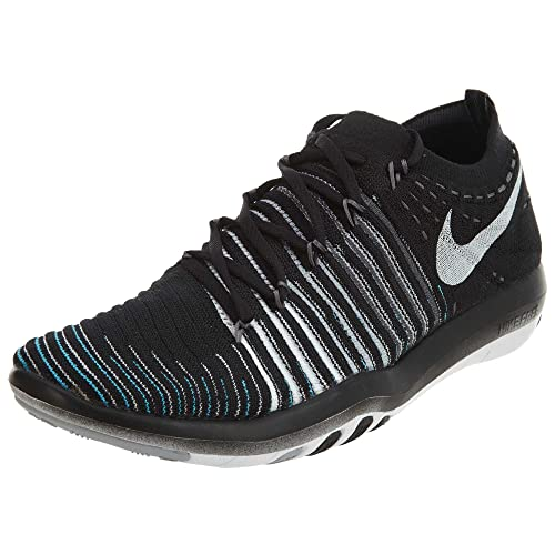 Nike Women s Free Transform Flyknit Training Shoe, BLACK WHITE-WOLF GREY-DARK GREY, 7.5 B M US