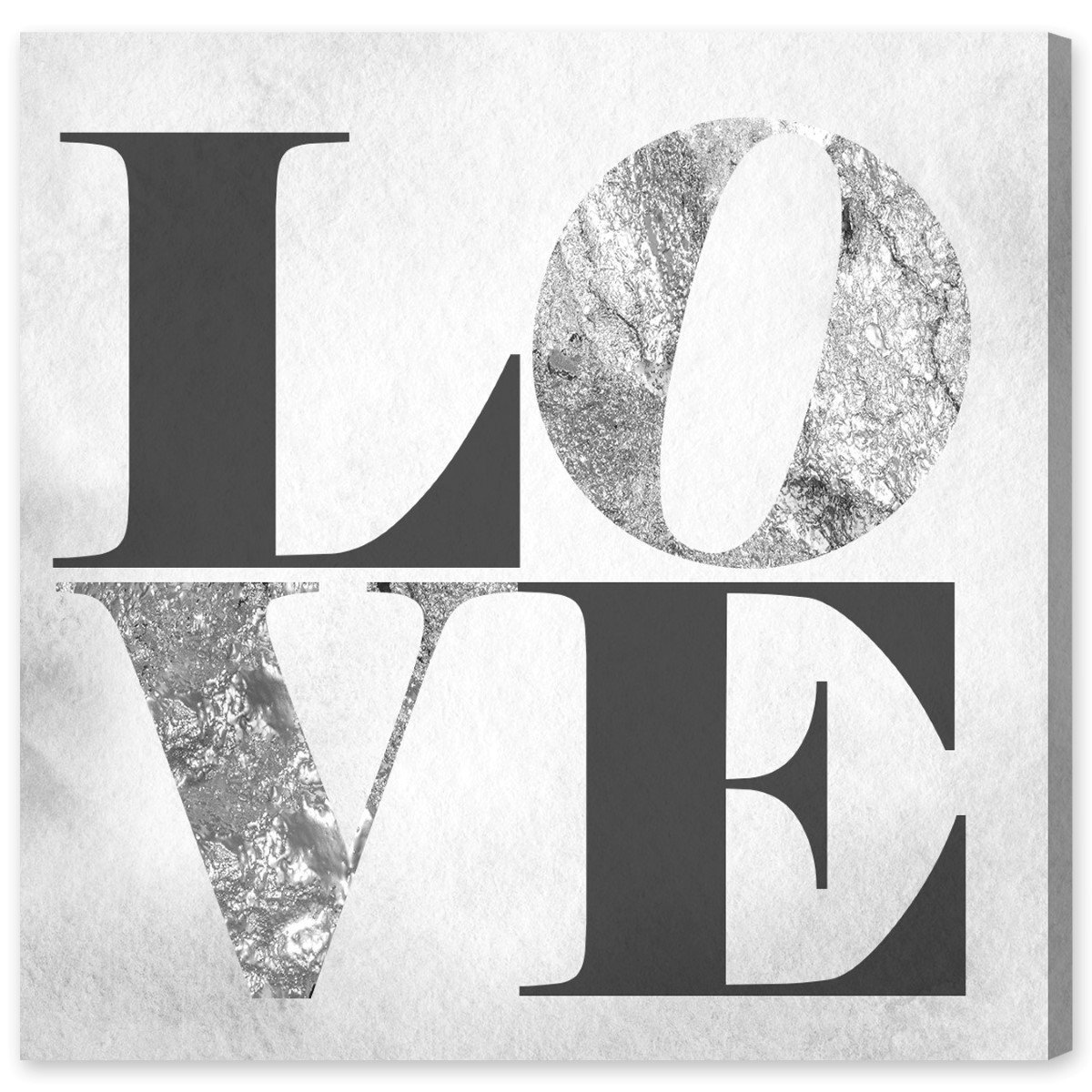 Amazon.com: Build On Love Silver by Oliver Gal | Contemporary Premium Canvas Art Print. The Typography Wall Art Decor Collection. 16x16 inch, Gray: Wall Art