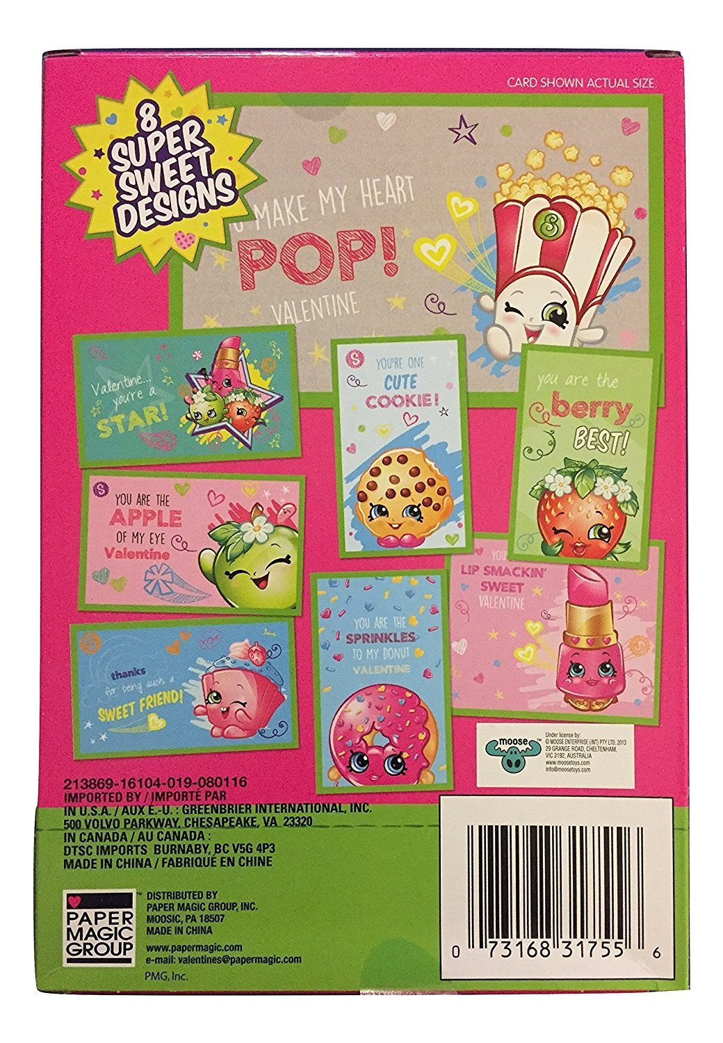 Amazon shopkins 32 valentines cards for kids 8 designs paper amazon shopkins 32 valentines cards for kids 8 designs paper magic for ages 3 and up office products m4hsunfo Gallery