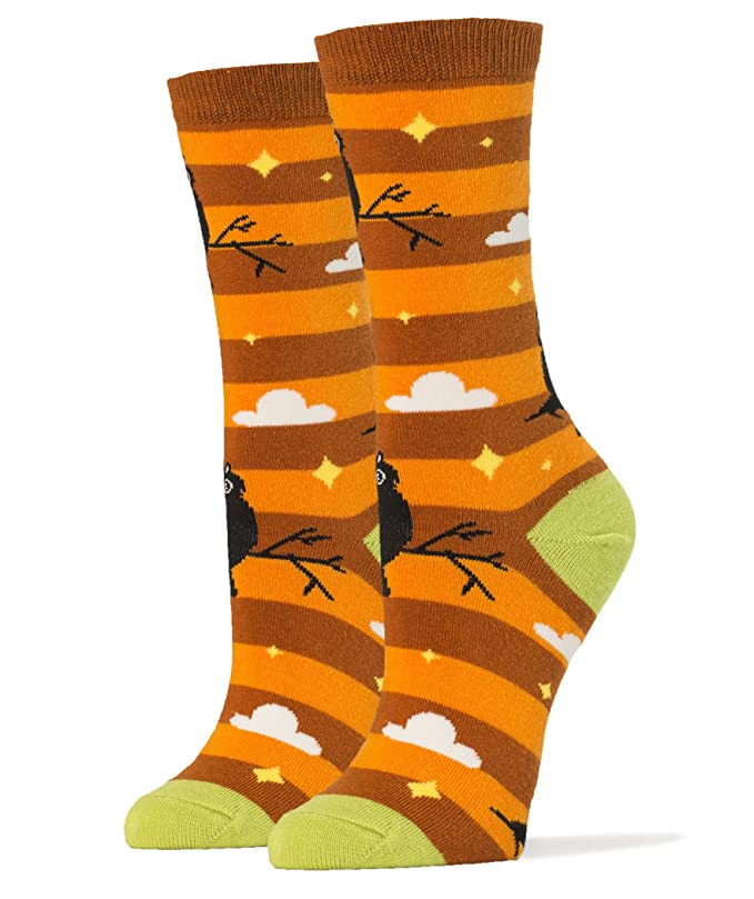 Orange Halloween socks with owl