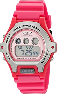 Casio Womens LW-202H-4AVCF Illuminator Pink Resin Watch