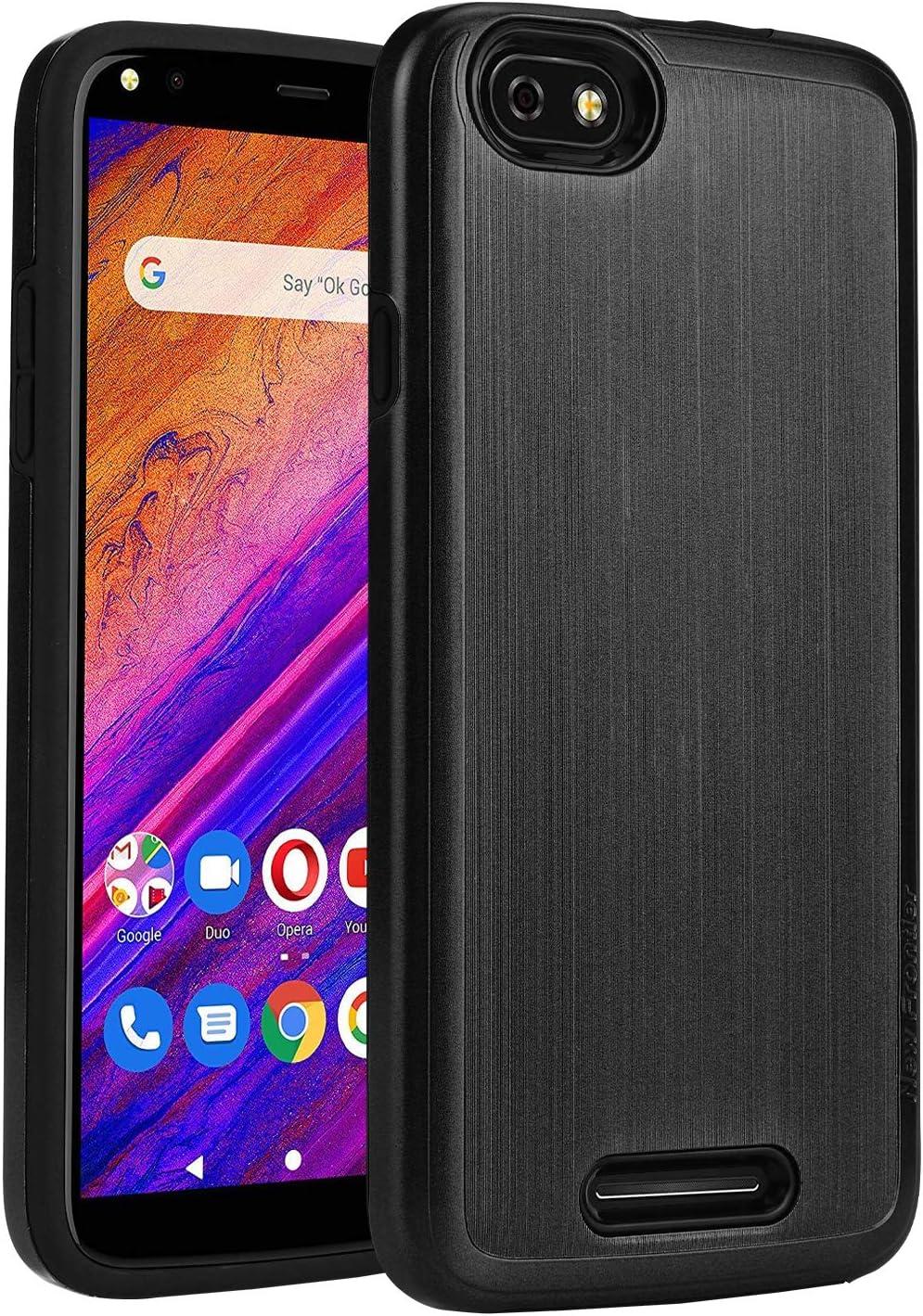BLU Studio Mega 2019 Case,NEW FRONTIER 100% Slim-Fit [Merge] Strong Protective Shock Proof Dual Layer Precise Cutouts Bumper Style Phone Case for BLU Studio Mega 2019 (Black)