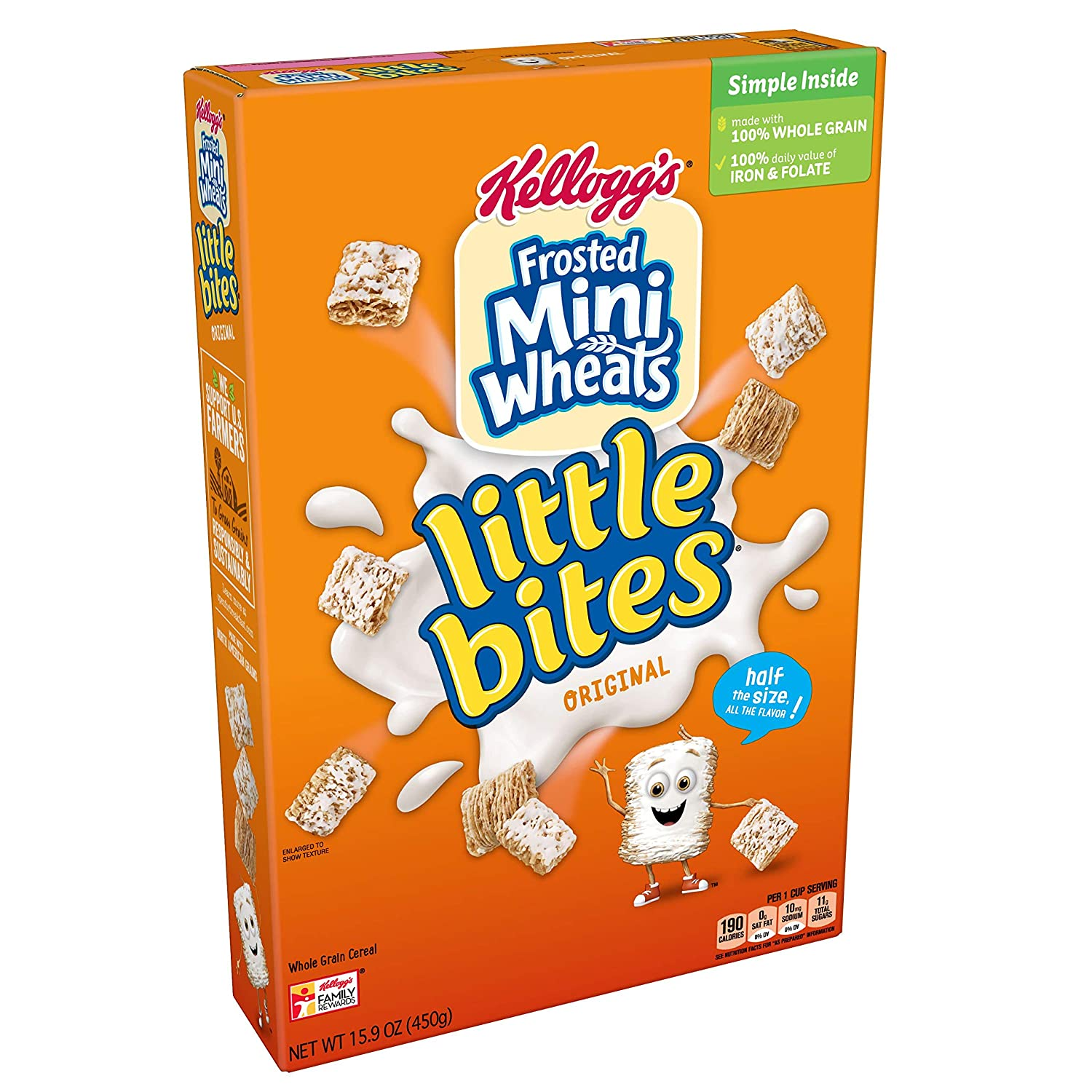 Kelloggs Frosted Mini-Wheats Little Bites, Breakfast Cereal, Original, Excellent Source of Fiber,...