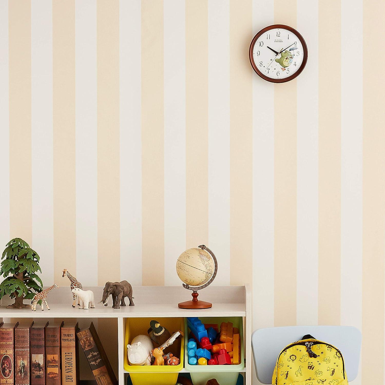 Amazon Co Jp となりのトトロ 掛け時計 キャラクター アナログ トトロ M27 木 茶 半艶仕上 リズム Rhythm 8mga27rh06 ホーム キッチン