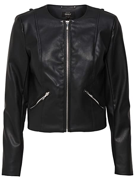 Only - Chaqueta - para Mujer Negra X-Large: Amazon.es: Ropa ...