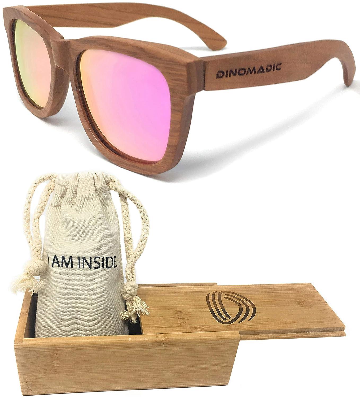 DINOMADic | Madera de Cereza Gafas de Sol Polarizadas ...