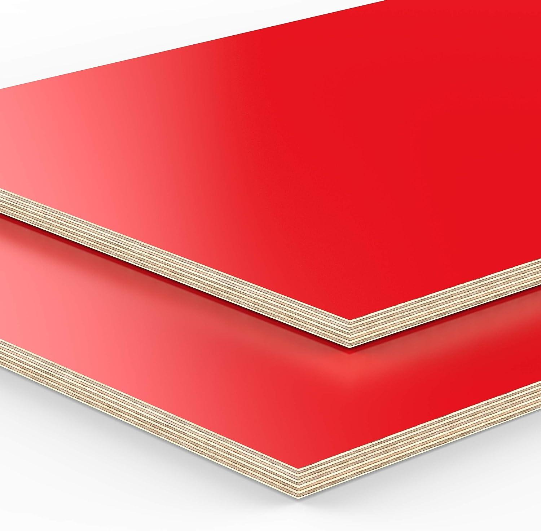 Art.nr 18mm Multiplex Zuschnitt 45 x 29,5 cm B-Ware rot melaminbeschichtet unbehandelt Restposten verschiedene Gr/ö/ßen und St/ärken zur Auswahl 993-4-022 450 x 295 x 18 mm