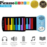 PicassoTiles PT49 Kid's 49-Key Flexible Roll-Up Educational Electronic Digital Music Piano Keyboard w/ Recording Feature…