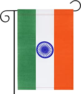Garden Flag India Indian Garden Flag,Garden Decoration Flag,Indoor and Outdoor Flags,Celebration Parade Flags,Anniversary Celebration, National Day,Double-Sided.