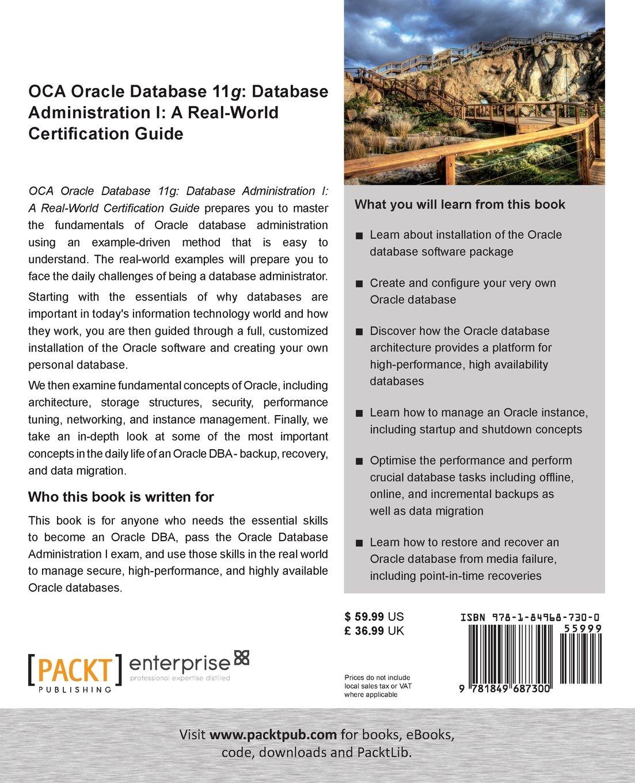 Oca Oracle Database 11g Database Administration I A Real World