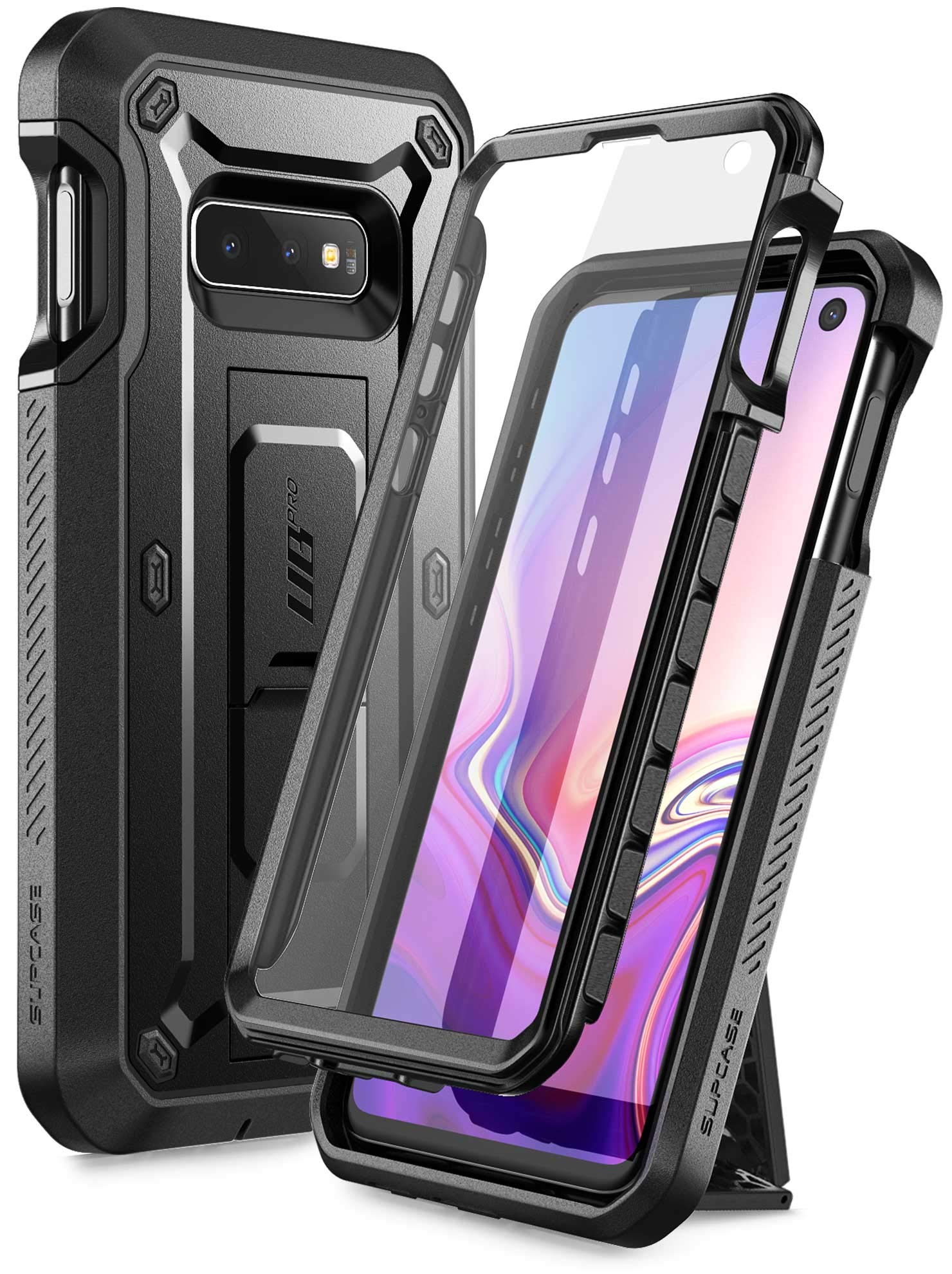 SUPCASE Unicorn Beetle Pro Series Designed for Samsung Galaxy S10e Case (2019 Release) Full-Body Dual Layer Rugged with Holster & Kickstand with Built-in Screen Protector (Black) by SupCase