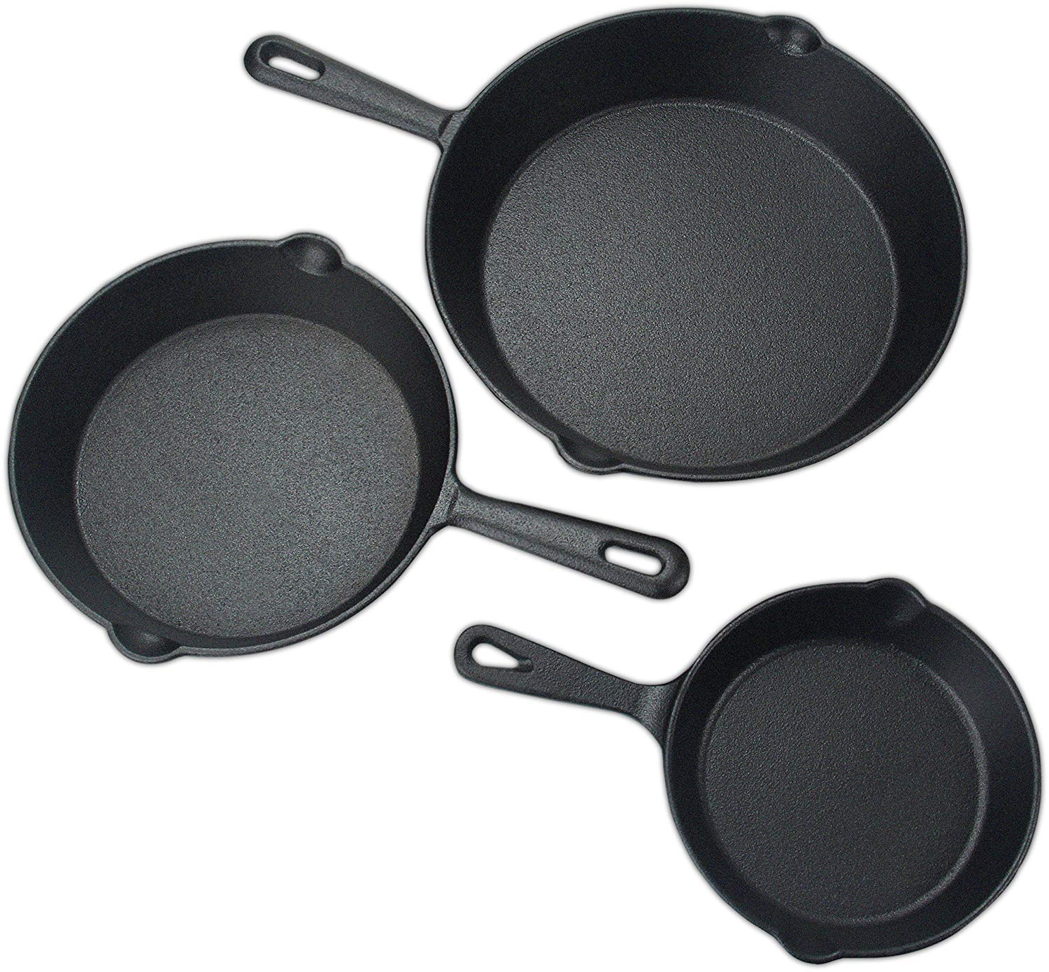 Amazon.com: Utopia Kitchen Pre-Seasoned Cast Iron Skillet Set 3-Piece - 6 Inch, 8 Inch and 10 Inch - Bulk Pack of 4 Sets: Kitchen & Dining