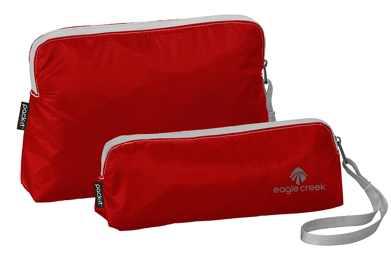 Eagle Creek Pack-It Specter Wristlet Set, Volcano Red, Set of 2 (XS, S)