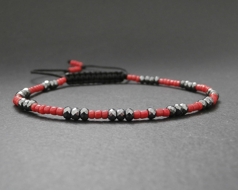 Bracelet fin rouge homme