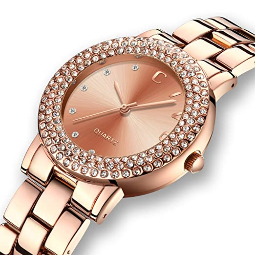 fa2e4e28df83 CIVO Women Watches Ladies Watch Luxury Fashion Waterproof Date Calendar  Wrist Watch Business Dress Simple Casual Analogue Watches for Women with  Rose Gold ...