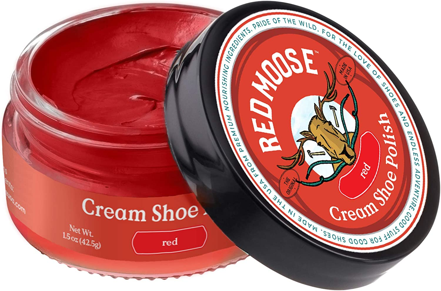 Red Moose Red Boot and Shoe Cream Polish - Made in the USA: Shoes