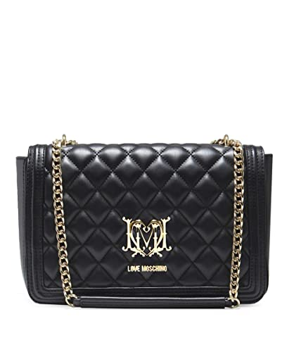 04b93c1b20 Moschino Love Moschino Women s Quilted Chain Shoulder Bag One Size Black