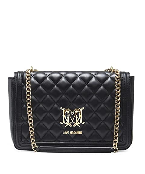 d41dc9175bd Moschino Love Moschino Women's Quilted Chain Shoulder Bag Black One Size
