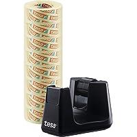 Tesa Easy Cut Smart tafelplakband (plakfolieroller, met stop-pad voor een veilige stand met 8 rollen tesafilm…