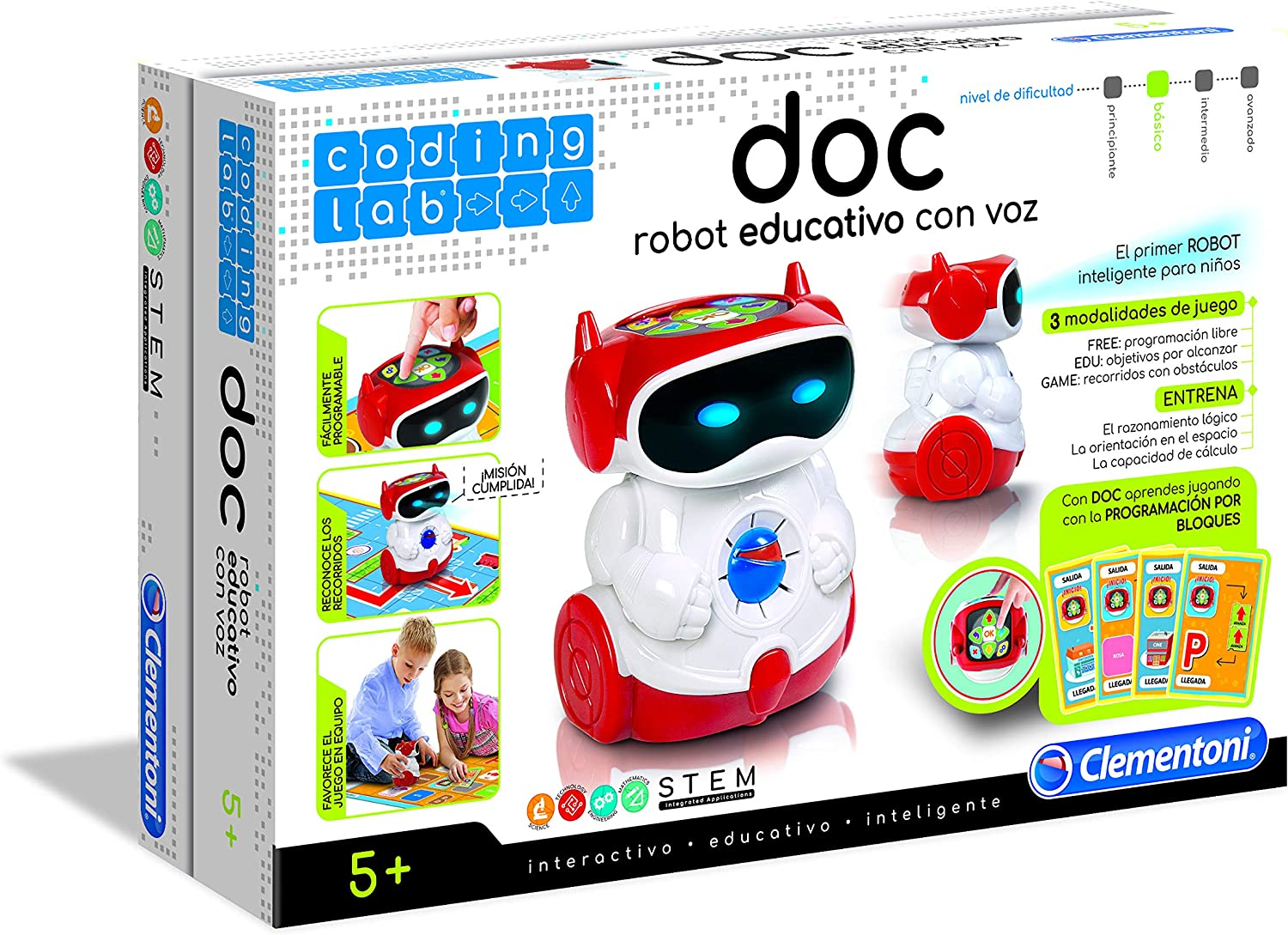 Amazon.es: Clementoni - Doc el Robot (Clementoni 55176.7), color ...